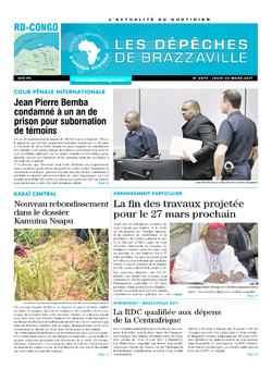 Les Dépêches de Brazzaville : Édition kinshasa du 23 mars 2017