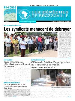 Les Dépêches de Brazzaville : Édition kinshasa du 24 mars 2017