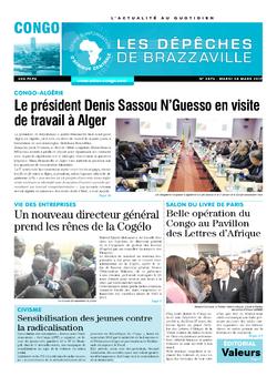 Les Dépêches de Brazzaville : Édition brazzaville du 28 mars 2017