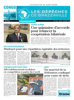 Les Dépêches de Brazzaville : Édition brazzaville du 30 mars 2017