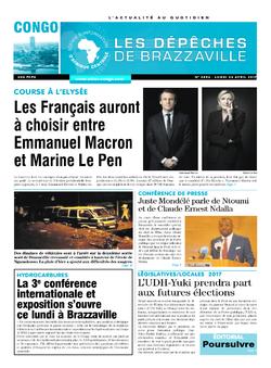 Les Dépêches de Brazzaville : Édition brazzaville du 24 avril 2017