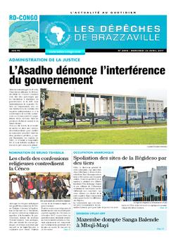 Les Dépêches de Brazzaville : Édition kinshasa du 26 avril 2017