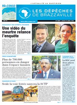 Les Dépêches de Brazzaville : Édition kinshasa du 27 avril 2017
