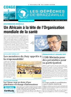 Les Dépêches de Brazzaville : Édition brazzaville du 24 mai 2017