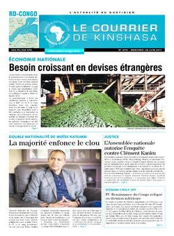 Les Dépêches de Brazzaville : Édition le courrier de kinshasa du 28 juin 2017