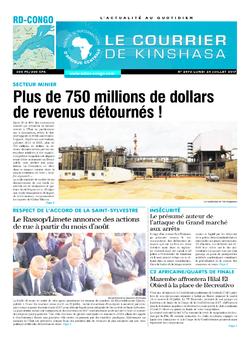Les Dépêches de Brazzaville : Édition le courrier de kinshasa du 24 juillet 2017
