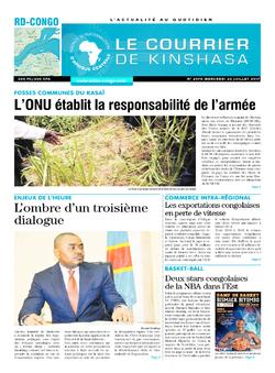Les Dépêches de Brazzaville : Édition le courrier de kinshasa du 27 juillet 2017