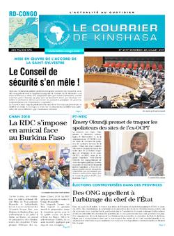 Les Dépêches de Brazzaville : Édition le courrier de kinshasa du 28 juillet 2017