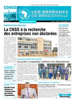 Les Dépêches de Brazzaville : Édition brazzaville du 19 septembre 2017