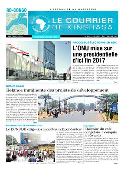Les Dépêches de Brazzaville : Édition le courrier de kinshasa du 21 septembre 2017