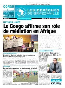 Les Dépêches de Brazzaville : Édition brazzaville du 22 septembre 2017