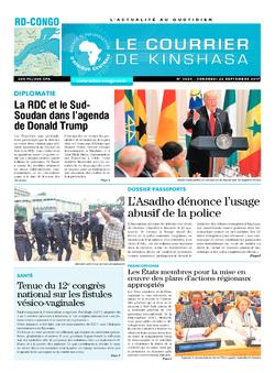 Les Dépêches de Brazzaville : Édition le courrier de kinshasa du 22 septembre 2017