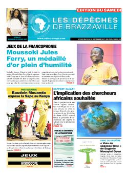 Les Dépêches de Brazzaville : Édition du 6e jour du 23 septembre 2017