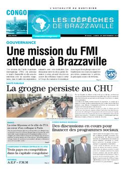 Les Dépêches de Brazzaville : Édition brazzaville du 25 septembre 2017