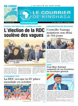 Les Dépêches de Brazzaville : Édition le courrier de kinshasa du 18 octobre 2017