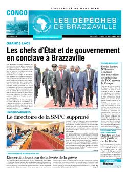 Les Dépêches de Brazzaville : Édition brazzaville du 19 octobre 2017