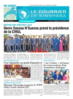 Les Dépêches de Brazzaville : Édition le courrier de kinshasa du 20 octobre 2017