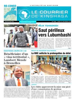 Les Dépêches de Brazzaville : Édition le courrier de kinshasa du 23 octobre 2017
