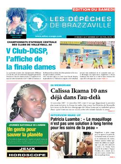 Les Dépêches de Brazzaville : Édition du 6e jour du 11 novembre 2017