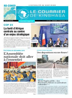 Les Dépêches de Brazzaville : Édition le courrier de kinshasa du 17 novembre 2017