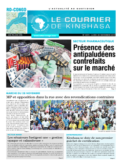 Les Dépêches de Brazzaville : Édition le courrier de kinshasa du 20 novembre 2017