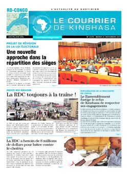 Les Dépêches de Brazzaville : Édition le courrier de kinshasa du 21 novembre 2017