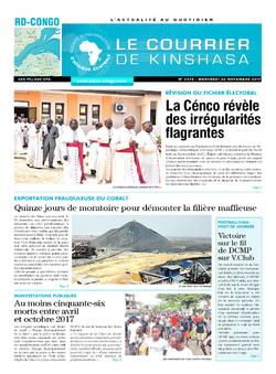 Les Dépêches de Brazzaville : Édition le courrier de kinshasa du 22 novembre 2017