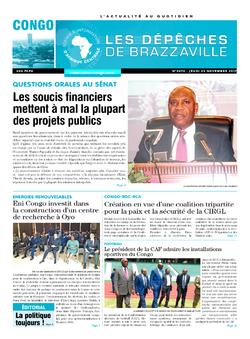 Les Dépêches de Brazzaville : Édition brazzaville du 23 novembre 2017