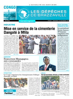 Les Dépêches de Brazzaville : Édition brazzaville du 24 novembre 2017