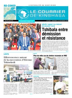 Les Dépêches de Brazzaville : Édition le courrier de kinshasa du 24 novembre 2017