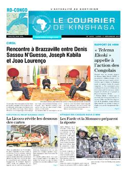 Les Dépêches de Brazzaville : Édition le courrier de kinshasa du 11 décembre 2017