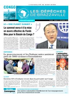 Les Dépêches de Brazzaville : Édition brazzaville du 12 décembre 2017