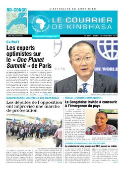 Les Dépêches de Brazzaville : Édition le courrier de kinshasa du 12 décembre 2017