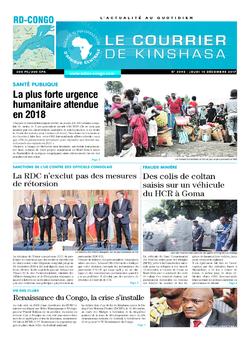 Les Dépêches de Brazzaville : Édition le courrier de kinshasa du 14 décembre 2017
