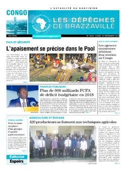 Les Dépêches de Brazzaville : Édition brazzaville du 18 décembre 2017