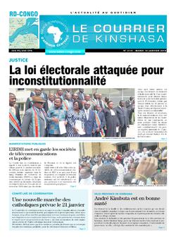 Les Dépêches de Brazzaville : Édition le courrier de kinshasa du 16 janvier 2018