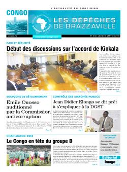 Les Dépêches de Brazzaville : Édition brazzaville du 18 janvier 2018