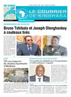 Les Dépêches de Brazzaville : Édition le courrier de kinshasa du 18 janvier 2018