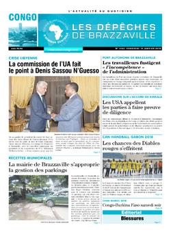 Les Dépêches de Brazzaville : Édition brazzaville du 19 janvier 2018