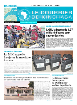 Les Dépêches de Brazzaville : Édition le courrier de kinshasa du 19 janvier 2018