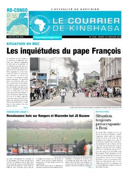 Les Dépêches de Brazzaville : Édition le courrier de kinshasa du 23 janvier 2018