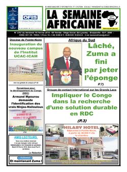 Les Dépêches de Brazzaville : Édition brazzaville du 18 février 2018