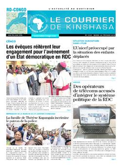 Les Dépêches de Brazzaville : Édition le courrier de kinshasa du 20 février 2018