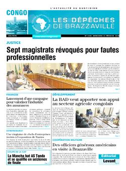 Les Dépêches de Brazzaville : Édition brazzaville du 21 février 2018