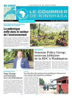 Les Dépêches de Brazzaville : Édition le courrier de kinshasa du 22 février 2018
