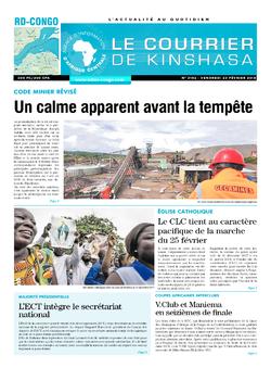 Les Dépêches de Brazzaville : Édition le courrier de kinshasa du 23 février 2018