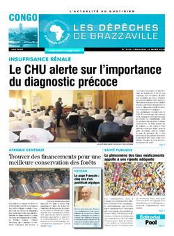 Les Dépêches de Brazzaville : Édition brazzaville du 16 mars 2018