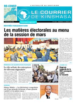 Les Dépêches de Brazzaville : Édition le courrier de kinshasa du 16 mars 2018