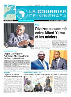 Les Dépêches de Brazzaville : Édition le courrier de kinshasa du 19 mars 2018