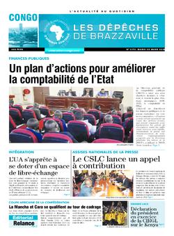 Les Dépêches de Brazzaville : Édition brazzaville du 20 mars 2018